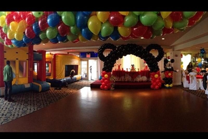 Mickey Mouse Theme Party Party Room Decor with Balloon Drop Mickey