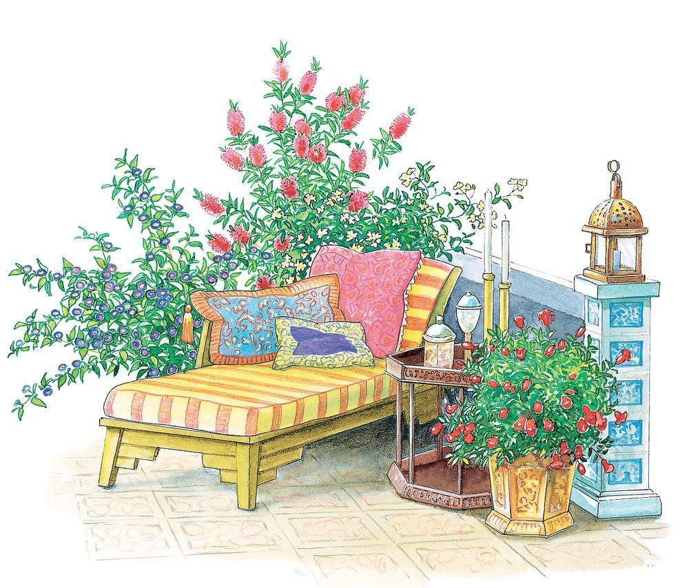 terrasse und sitzplatz mediterran gestalten gartengestaltung mediterrane terrasse. Black Bedroom Furniture Sets. Home Design Ideas