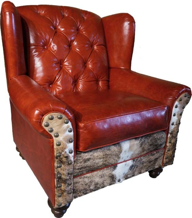 red overstuffed wingback chair western accent chairs chair rh pinterest com