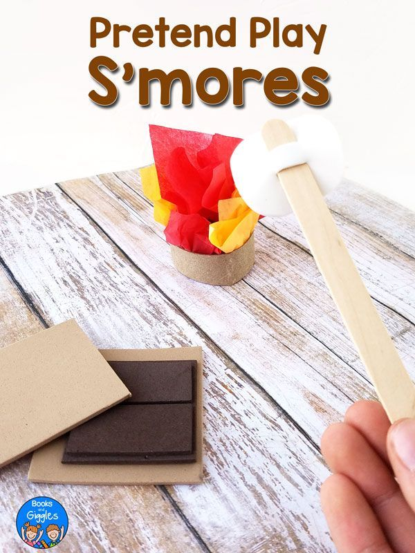 diy pretend play s mores set and sequencing activity dramatic play rh pinterest at