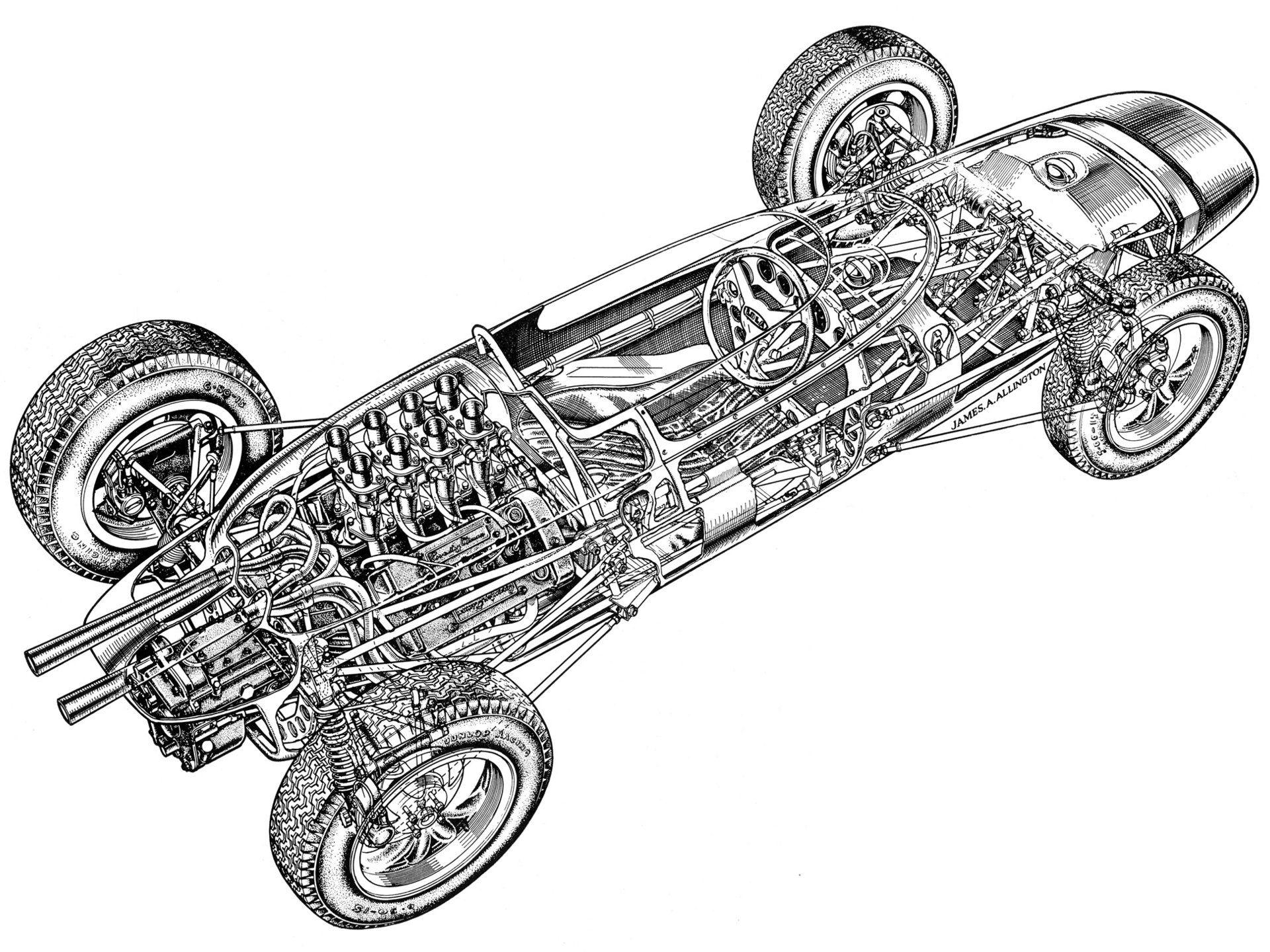 Lola MkIV \'1962–63 | Altes Wien | Pinterest | Auto design and Cutaway