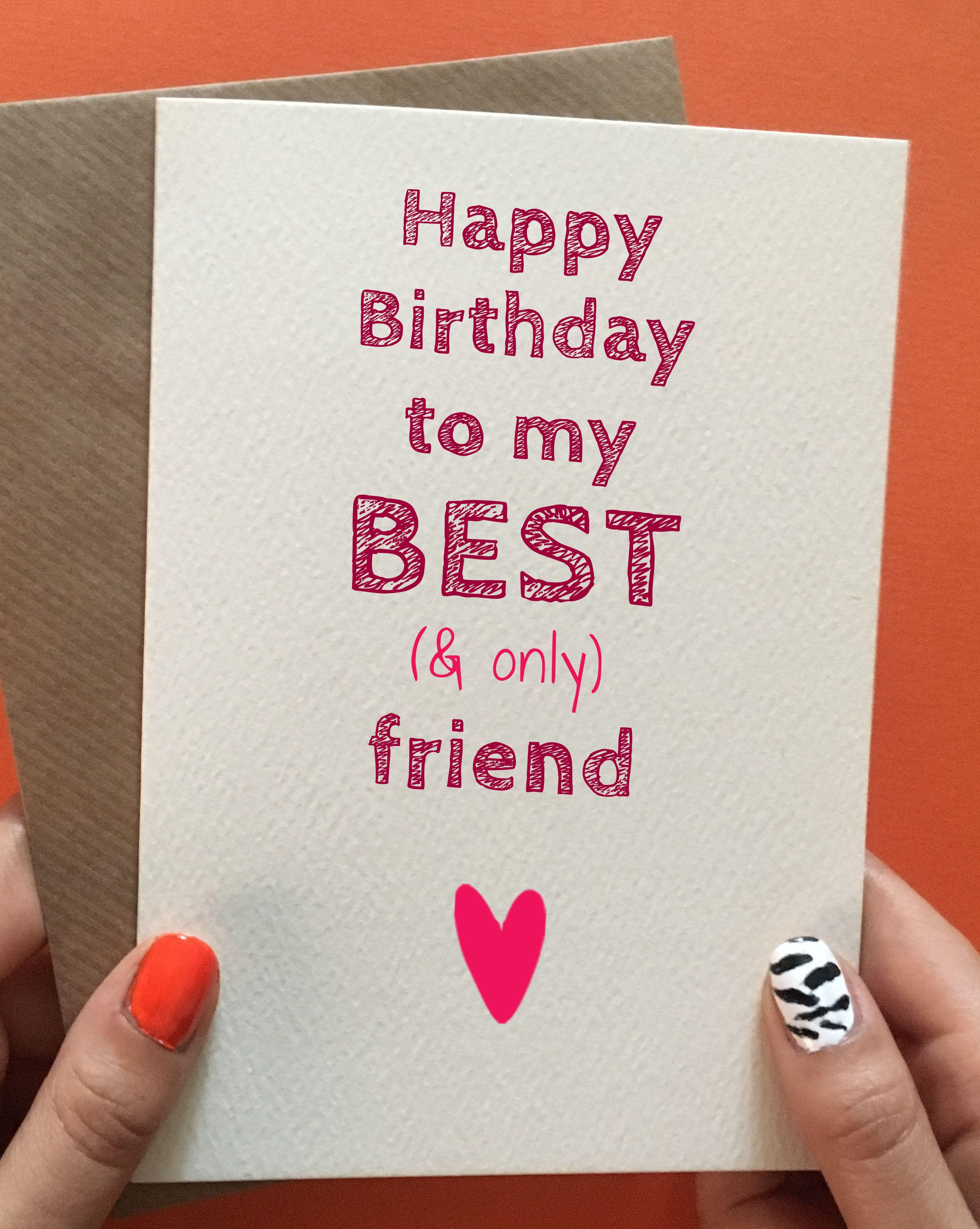 Funny Best Friend Birthday Card Gift Ideas