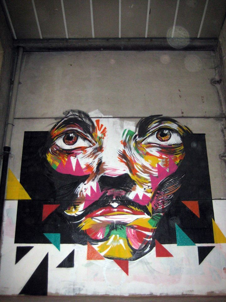 Hikups - street art - Brussels, Belgium.
