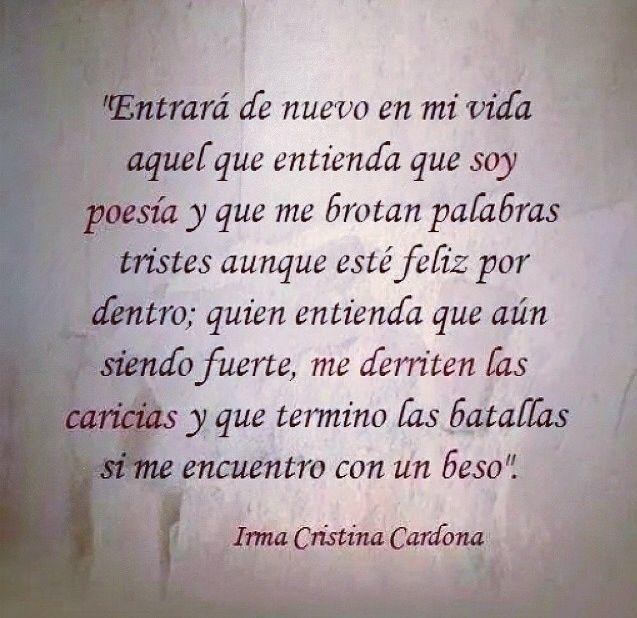 Soy Poesía Irma Cristina Cardona Frases De Amor