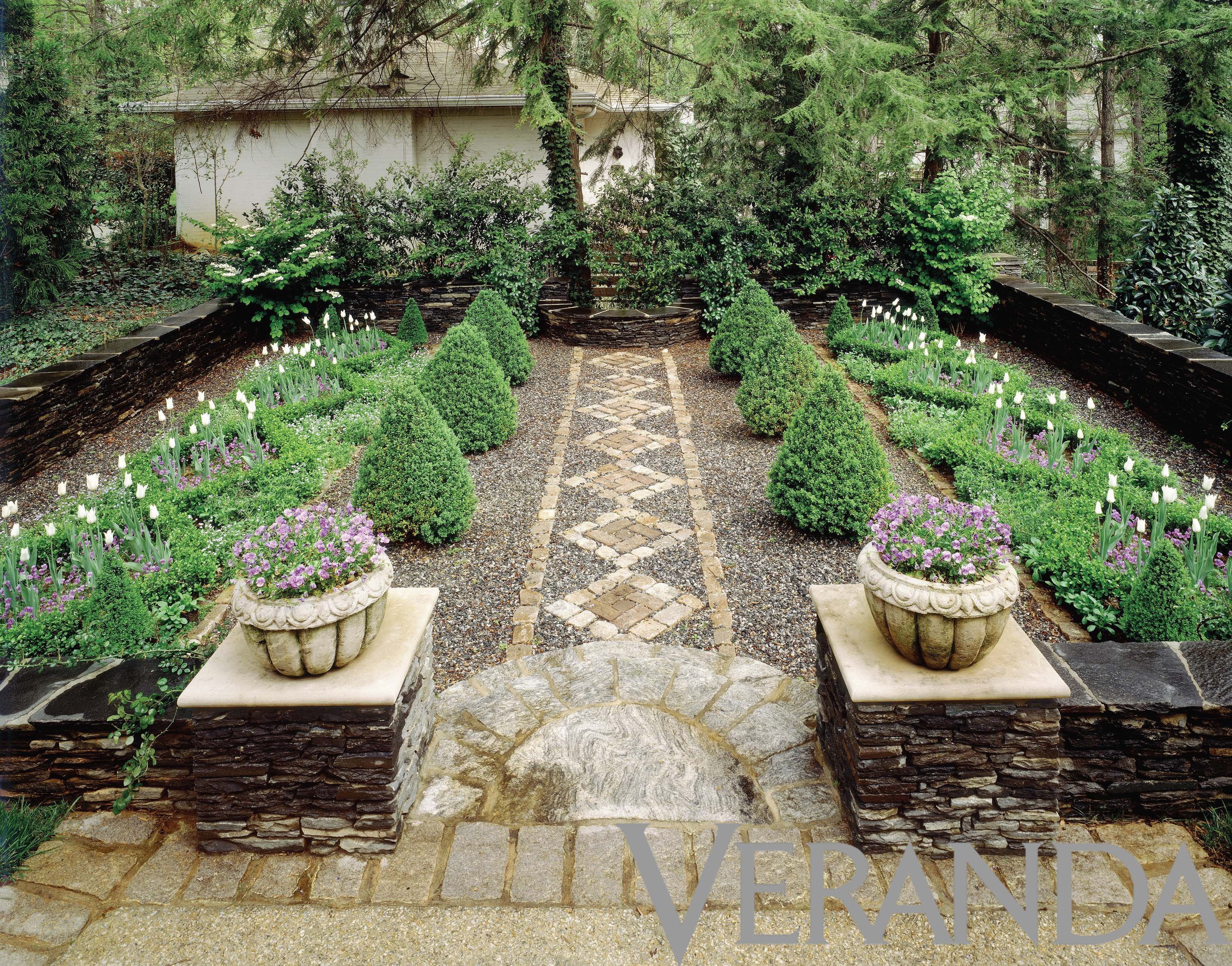 hardscape with topiary forms ryan gainey garden inspiration