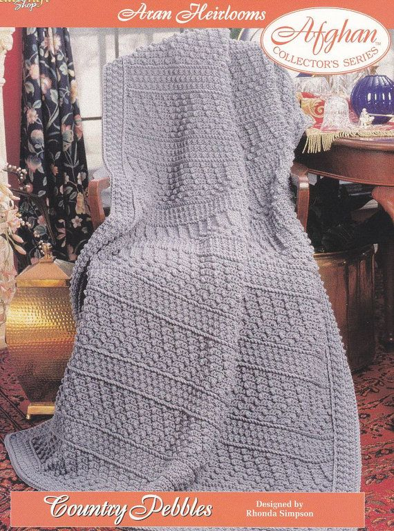 Aran Afghan Crochet Pattern Country Pebbles   Diseño e ideas de ...