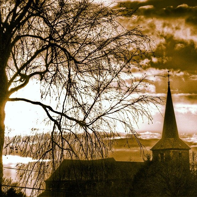 landscape church bestoftheday tree sky painters skylight winterview winter vintage blackwhite blackwhitephotography belgique belgium jumet fashion artphotography art risingsun paysages charleroi amazing dark love winterview