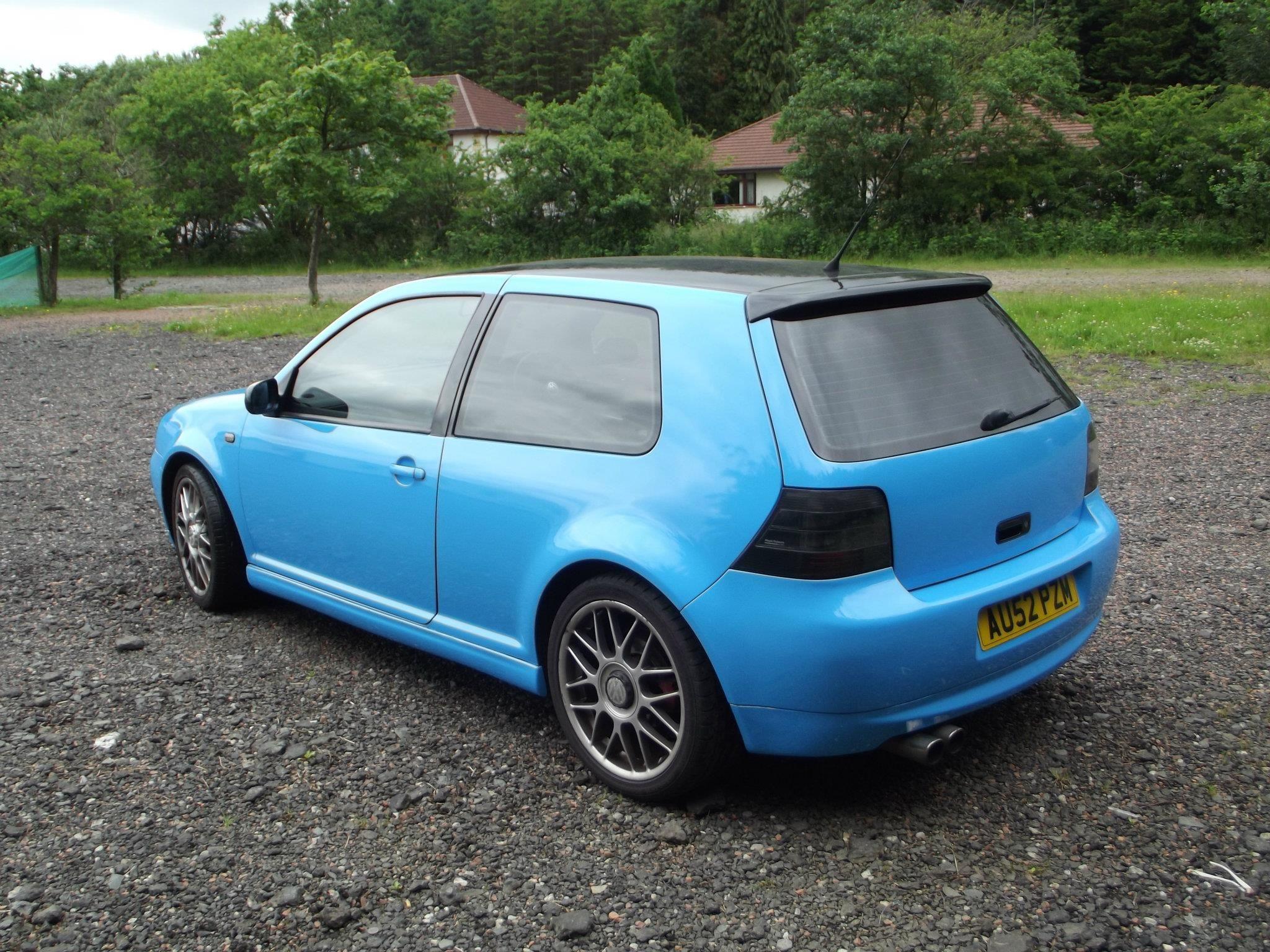 Mk4 Golf Wrapped Baby Blue Vw Mk4 Golf Baby Vw Golf Mk4