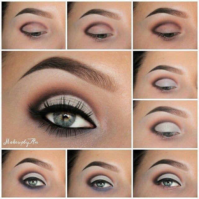 step by step eye makeup pics my collection kosmetik pinterest make up kosmetik und augen. Black Bedroom Furniture Sets. Home Design Ideas