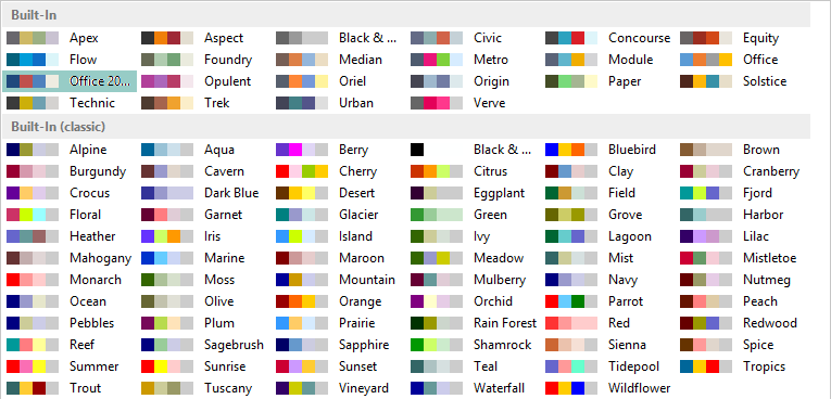 Popular Color Scheme With Best Combinations