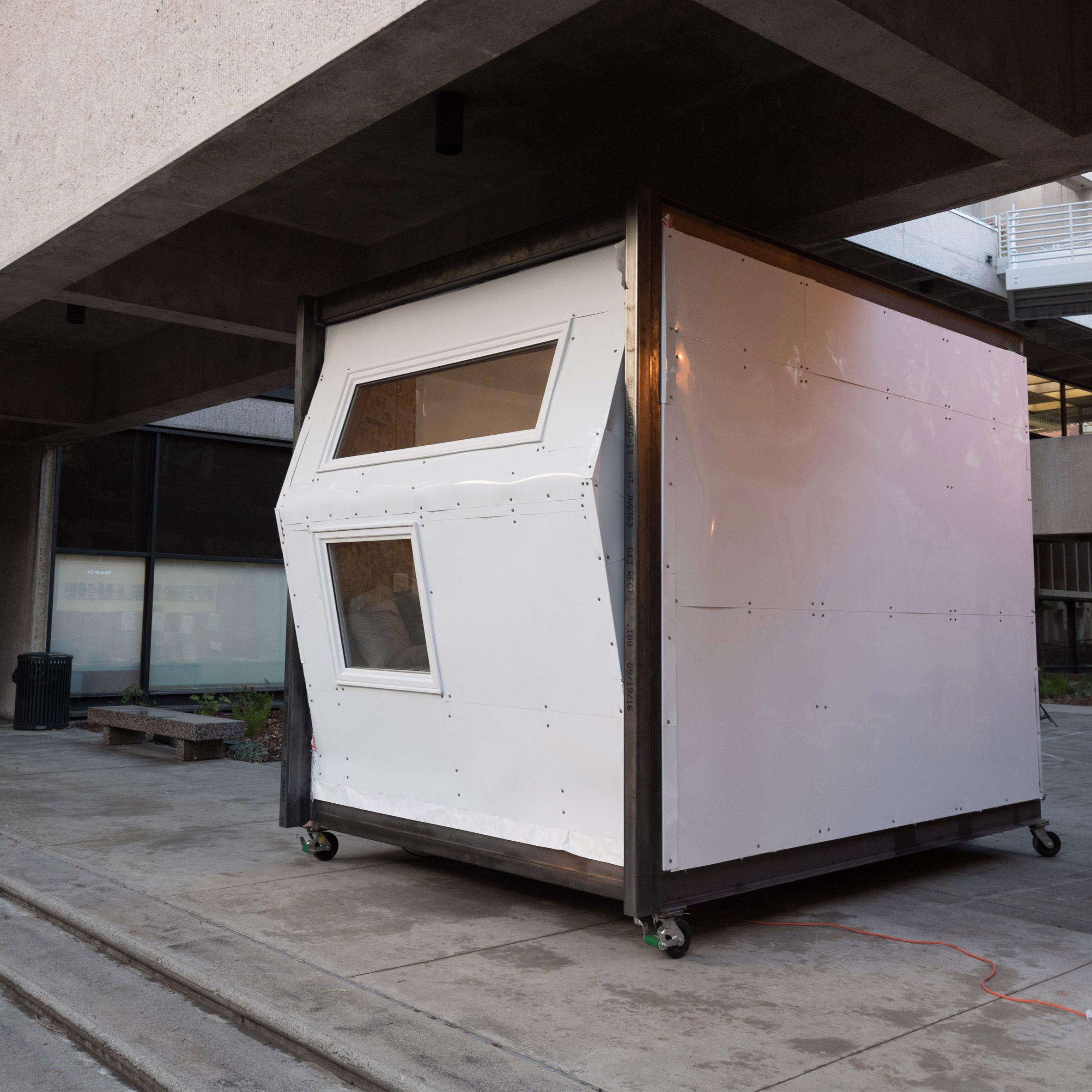 usc students have designed shelters for homeless people ranging rh br pinterest com