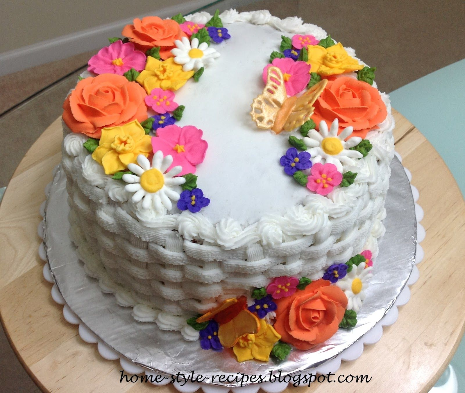Wilton Flowers And Cake Home-style-recipes.blogspot.com
