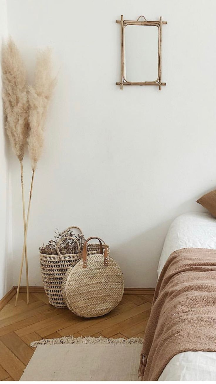 Neutral and Soft Bedroom Inspiration | Warm home decor ... on Neutral Minimalist Bedroom Ideas  id=49331