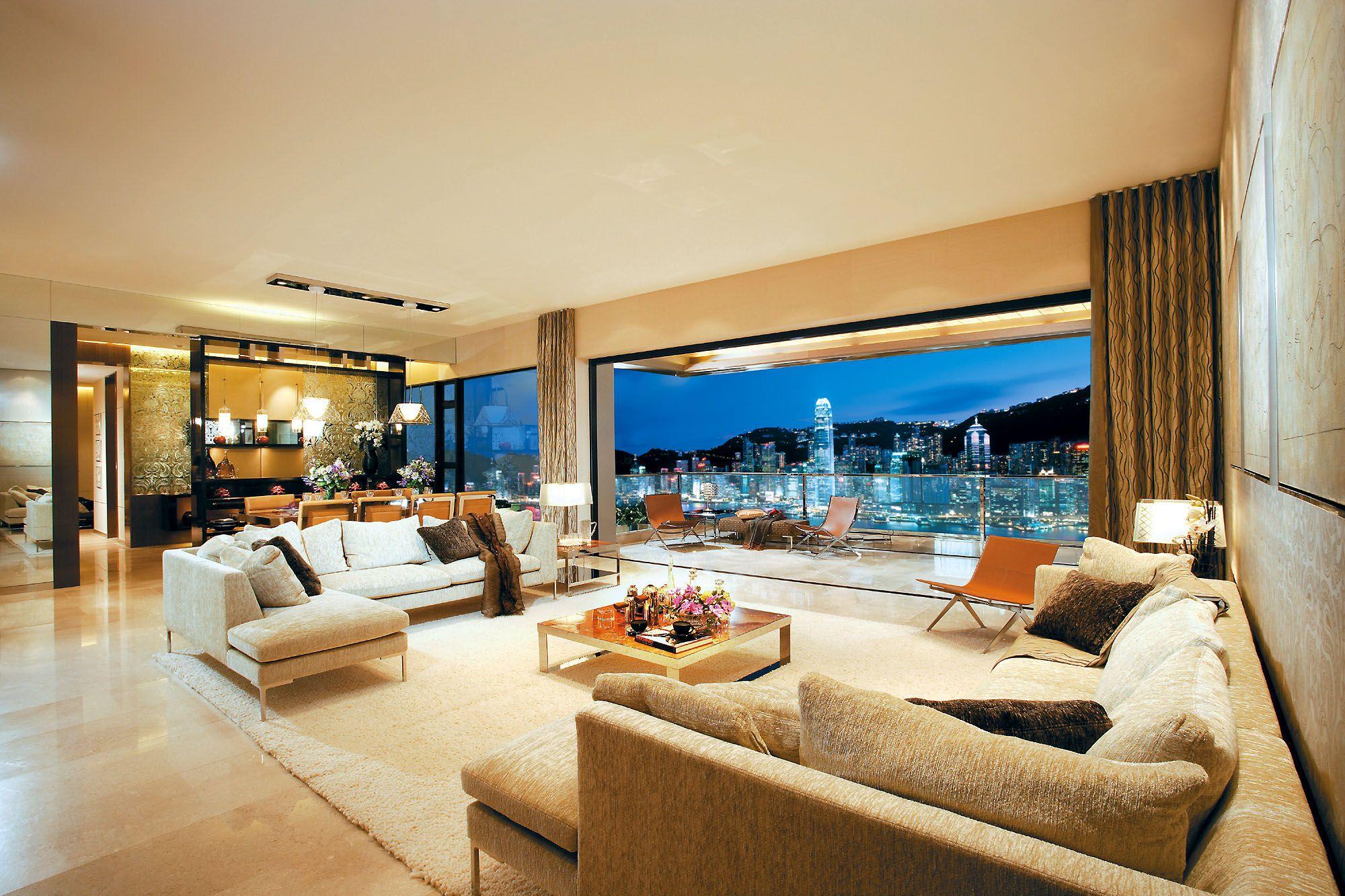 Expensive Living Rooms | And Li Ka Shingu0027s Pad, In Cheung Kong Centre    Probably