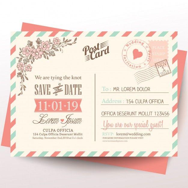Cartão do vintage fundo do convite do casamento Weddings and Wedding - wedding postcard