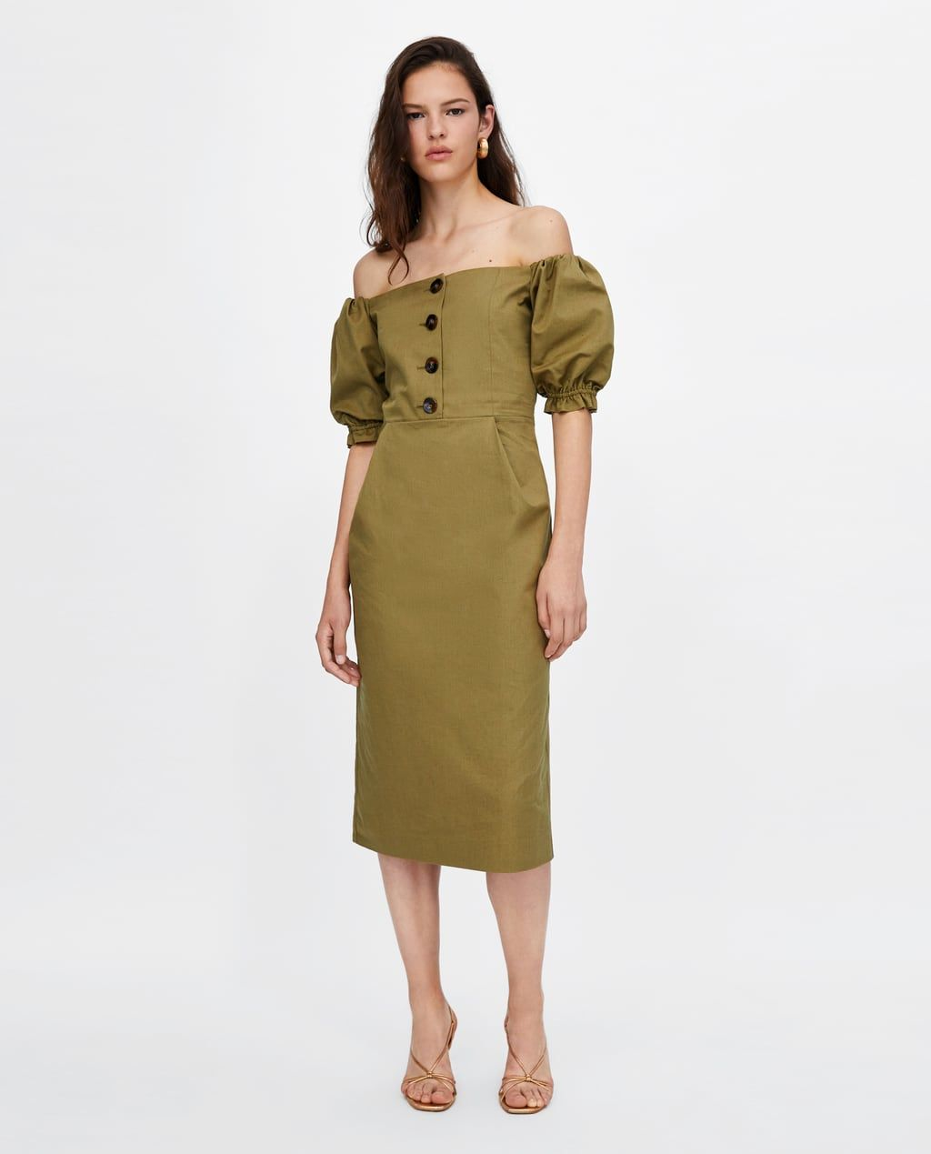 9829ec0c Image 1 of OFF-THE-SHOULDER DRESS from Zara   Looks I love in 2019 ...