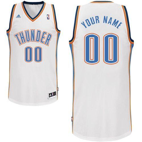 customized swingman oklahoma city thunder men white adidas home rh pinterest com