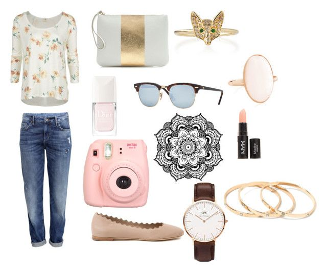 """""""It's spring time!"""" by sohaila-el-m on Polyvore featuring O'Neill, H&M, J.Crew, Christian Dior, Ray-Ban, Sydney Evan and Chloé"""