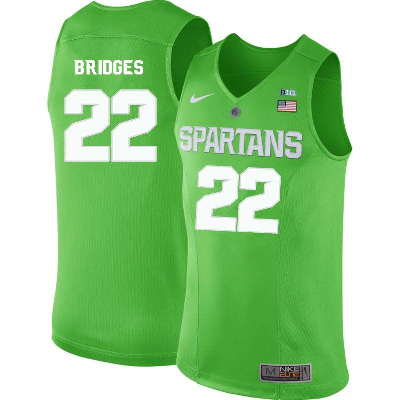 finest selection 455a2 519f7 Men #22 Miles Bridges Michigan State Spartans College ...