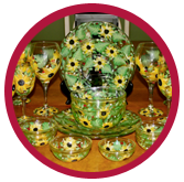 Wine glasses: Yellow Sunflower Collection - Fall 2012
