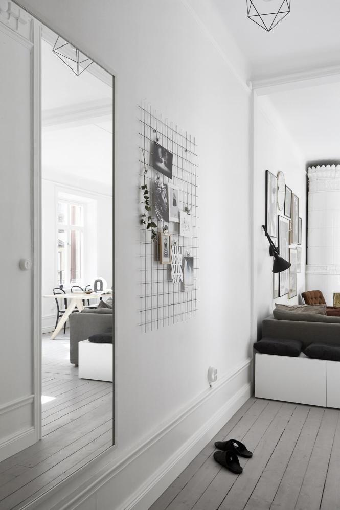 Piso pequeño y elegante Scandinavian style, Piso moderna y