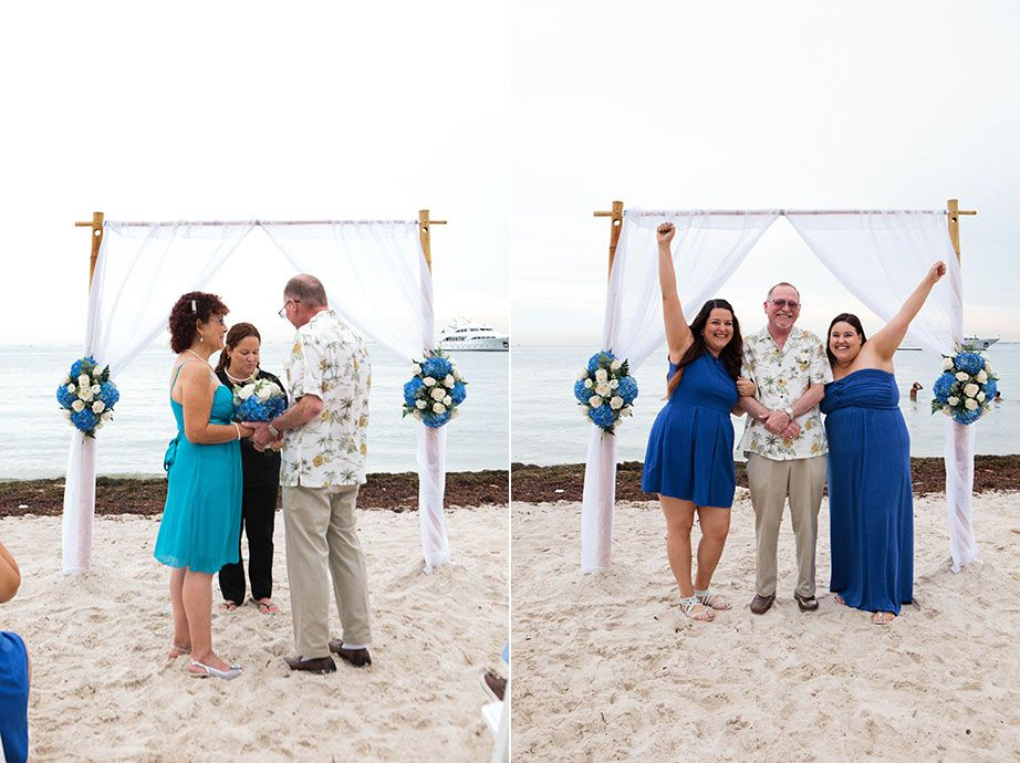 beach wedding south west uk%0A Small beach wedding in Miami  Florida  All floral decor  bamboo arbor   officiant  and photography by Small Miami Weddings  www smallmiamiweddings