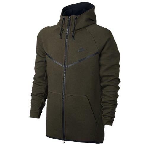 Koop Zwart Nike Tech Fleece Full Zip Hoodie Heren