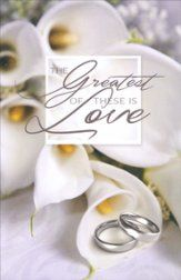 the greatest of these is love bulletin 100 wedding bulletins