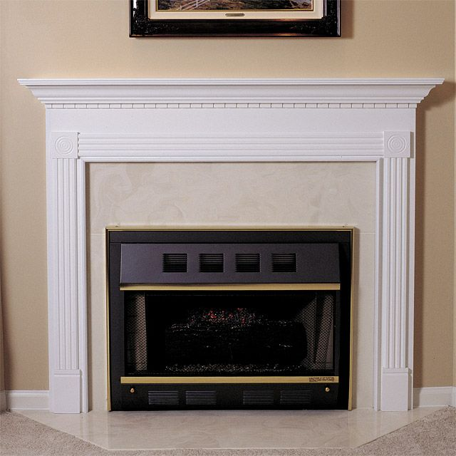 glacier 48 in x 41 in wood fireplace mantel surround fireplace rh pinterest ca