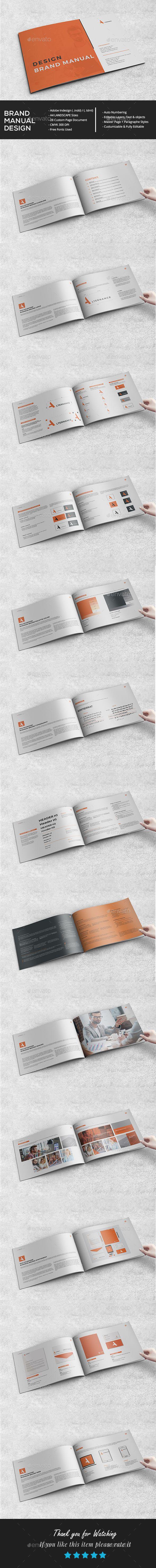 Brand Manual Landscape Brand manual