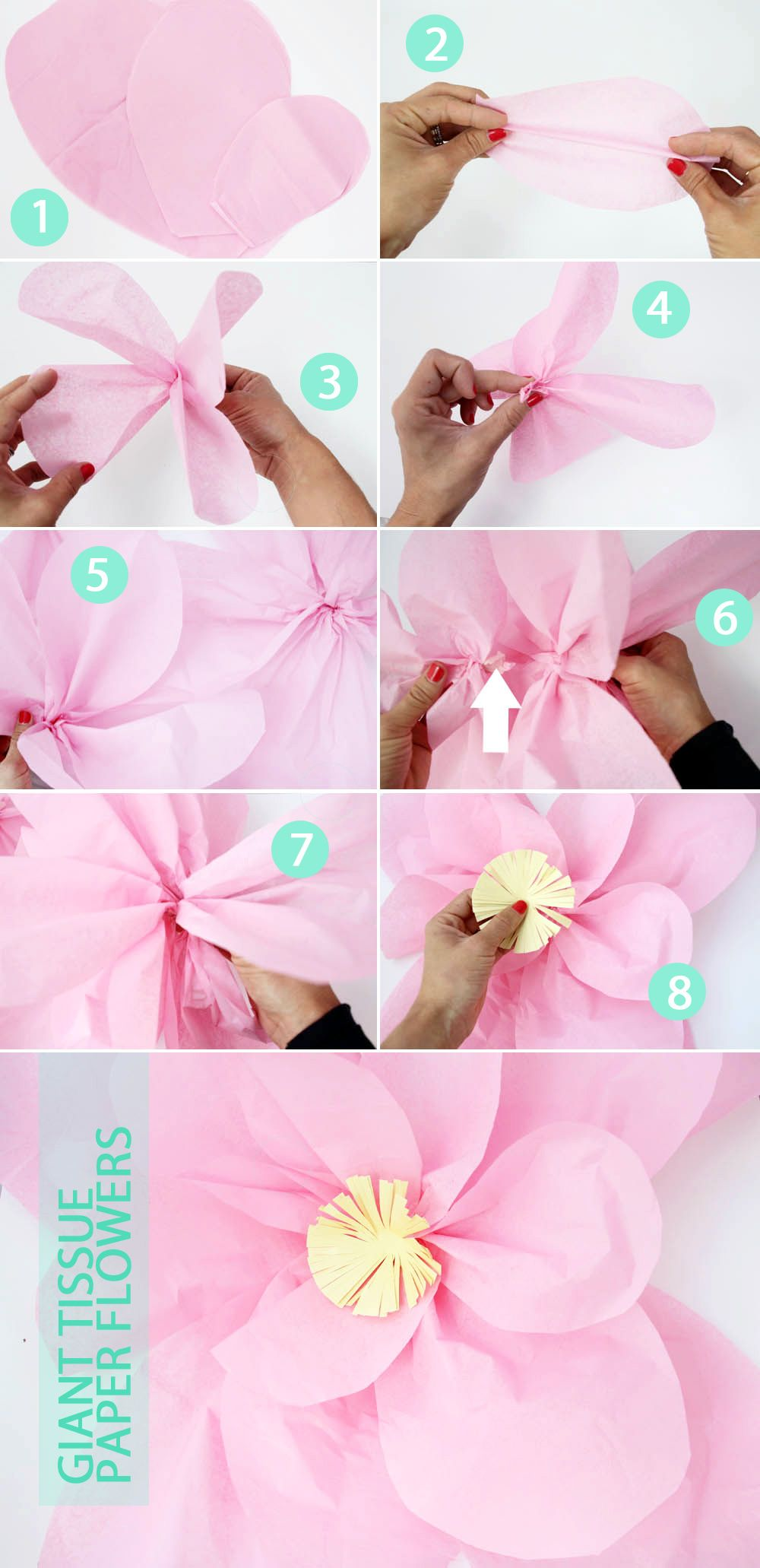 Tutorial Giant Tissue Paper Flowers Pepperdesignblog Paper