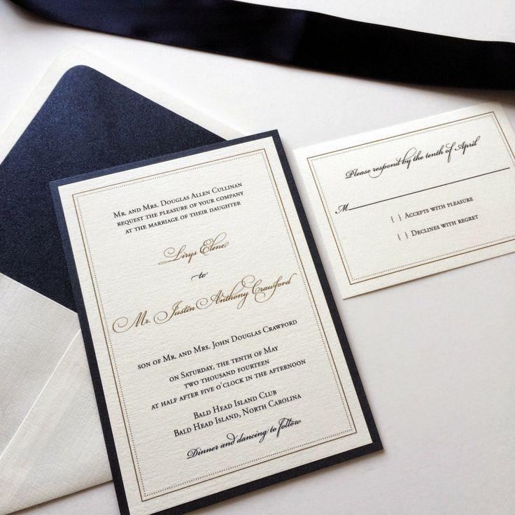 Unforgettable Navy Wedding Invitation in different
