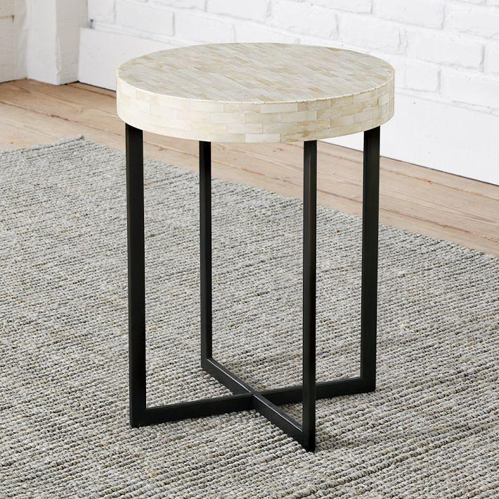 Bone Side Table West Elm INTERIOR Furniture Pinterest - West elm industrial side table