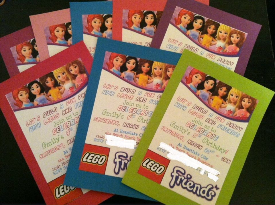 birthday party invitations printable%0A Printable Lego Friends invites  legofriends  birthday  party  invitation  partyatthebeech blogspot