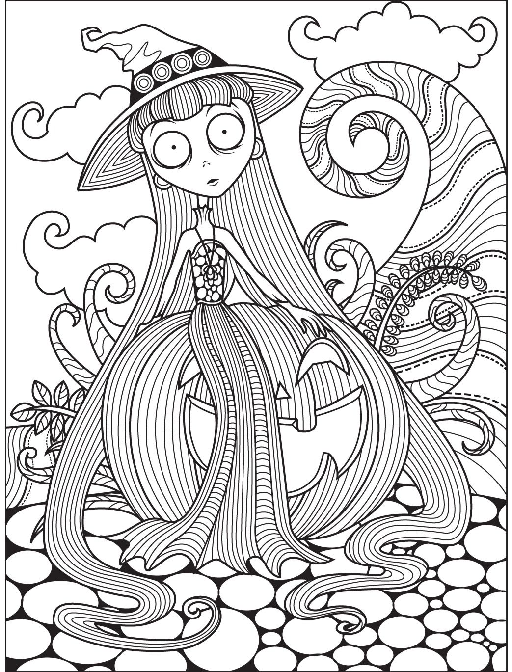 Halloween coloring page Colorish free coloring app for