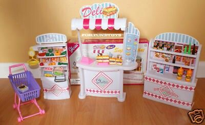 GLORIA DOLLHOUSE FURNITURE SZ KITCHEN w//Island TV w//Stand PLAYSET FOR Dolls