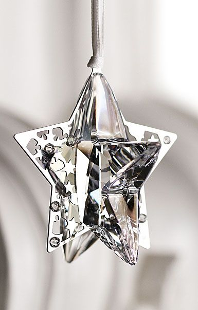Swarovski Holiday Star Ornament Crystal Moonlight  Christmas Ornaments To Make Silver Christmas
