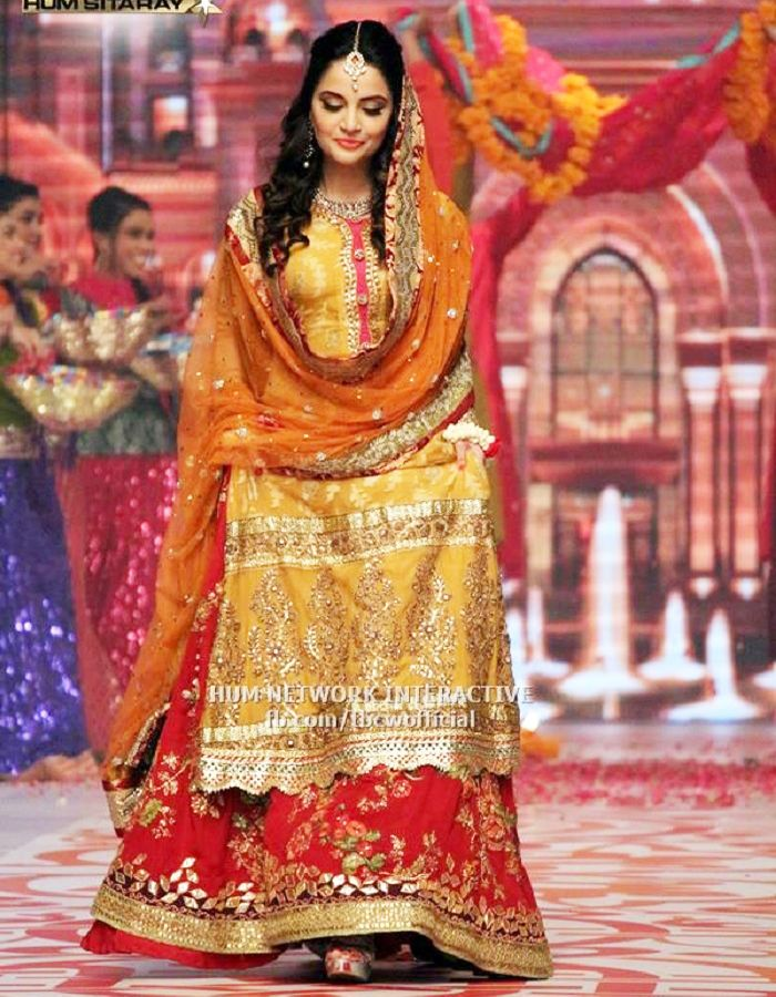 Bridal Mehndi 2017 : Latest bridal mehndi dresses collection