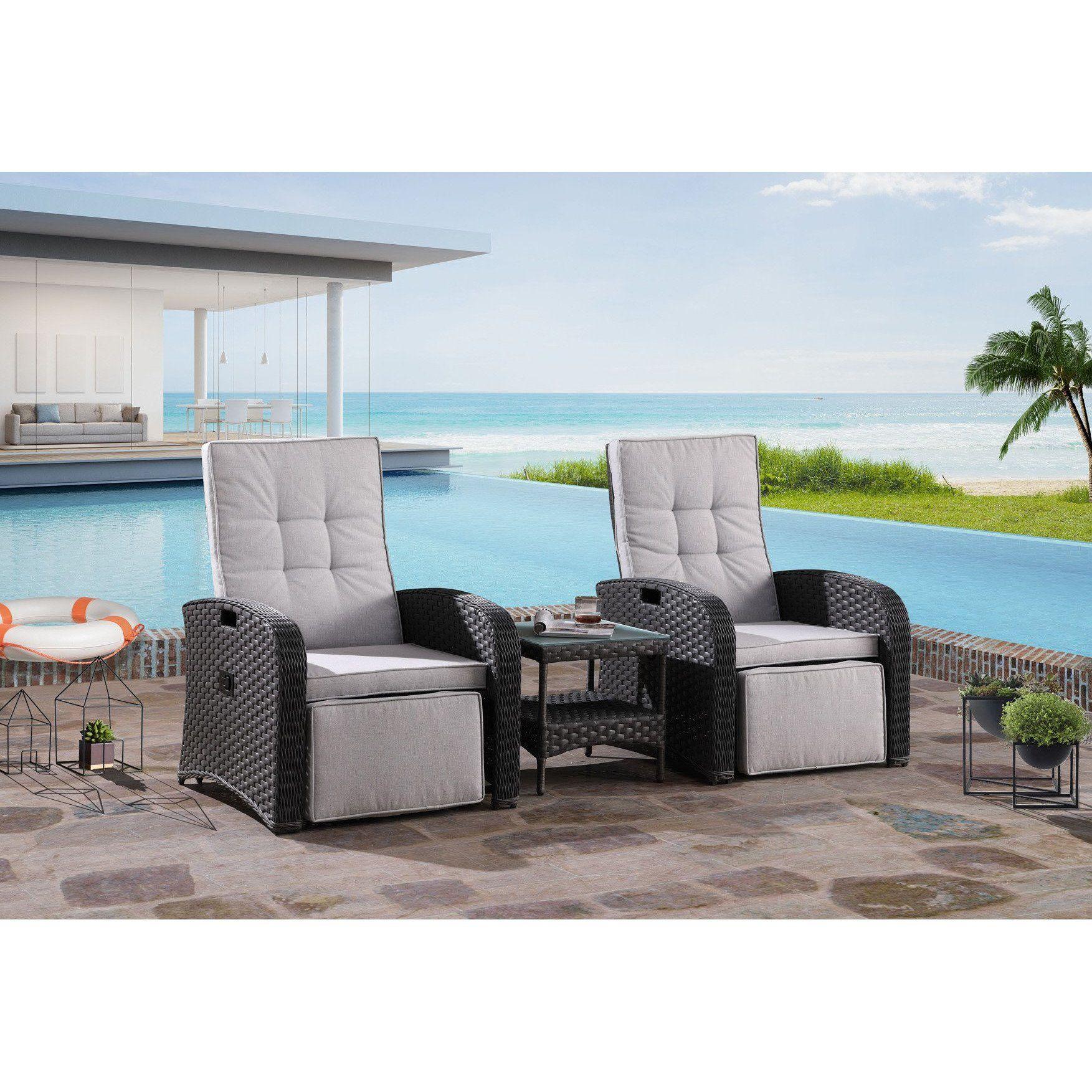 cacios outdoor recliner set furniture