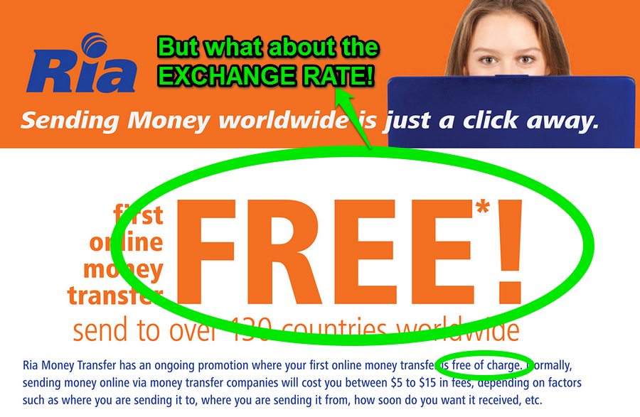 Ria Is Advertising Free International Money Transfers Carefully Neglecting To Disclose The 3 6 Of Fees Brokers Hide In Exchange Rates
