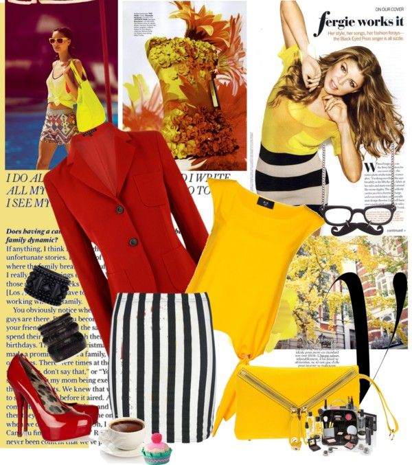 """yellow tops"" by noti on Polyvore"