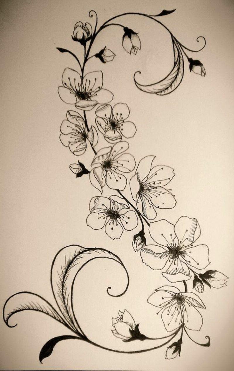 blumenranken tattoo 20 sch ne vorlagen f r diverse k rperstellen tattoo tatoo and tatoos. Black Bedroom Furniture Sets. Home Design Ideas