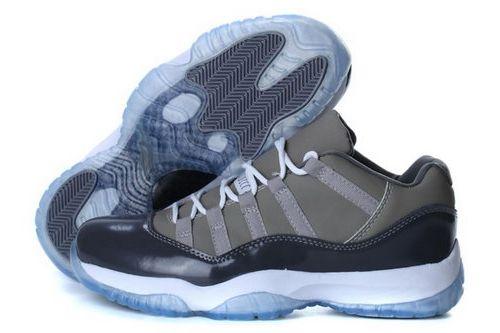 Nike Air Jordan 11 Low Mens Shoes Gray Closeout  0d162e0fa