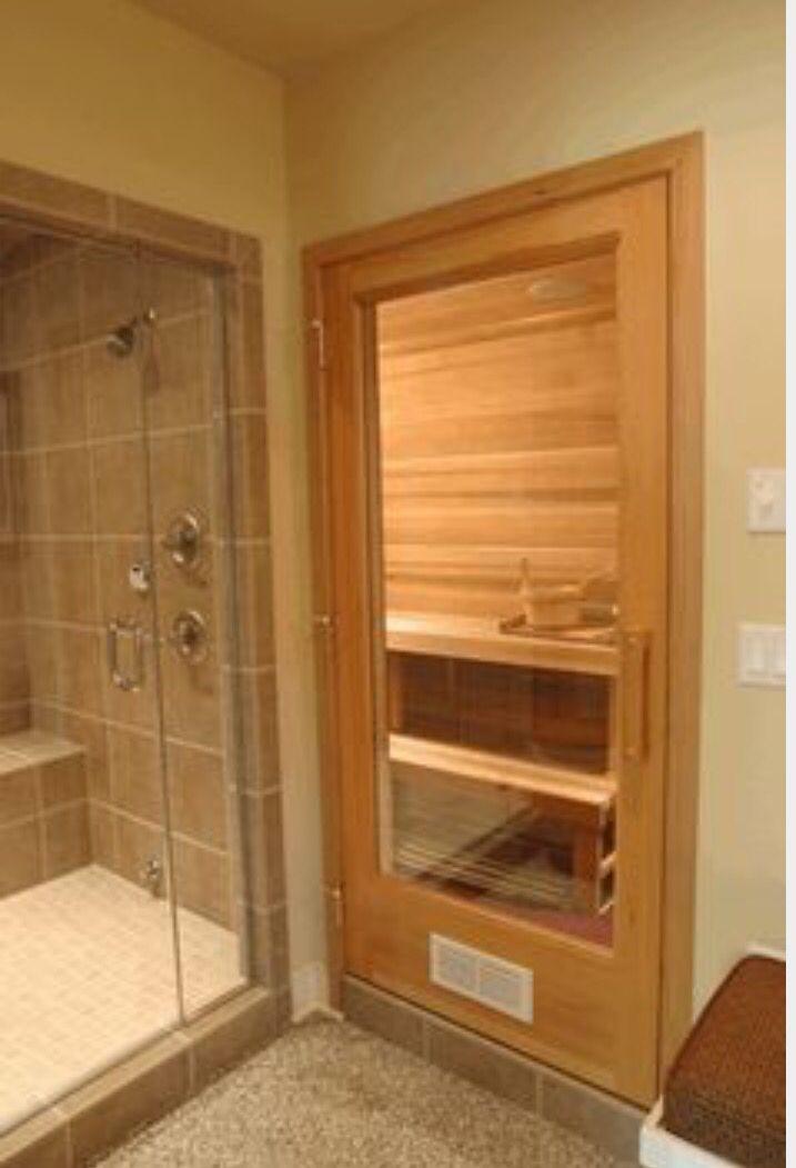 spa sauna and steam room nearby dream house basem rh pinterest com