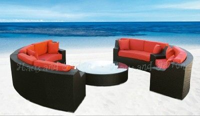 ebay wicker furniture on round outdoor wicker sectional sofa patio rh pinterest com
