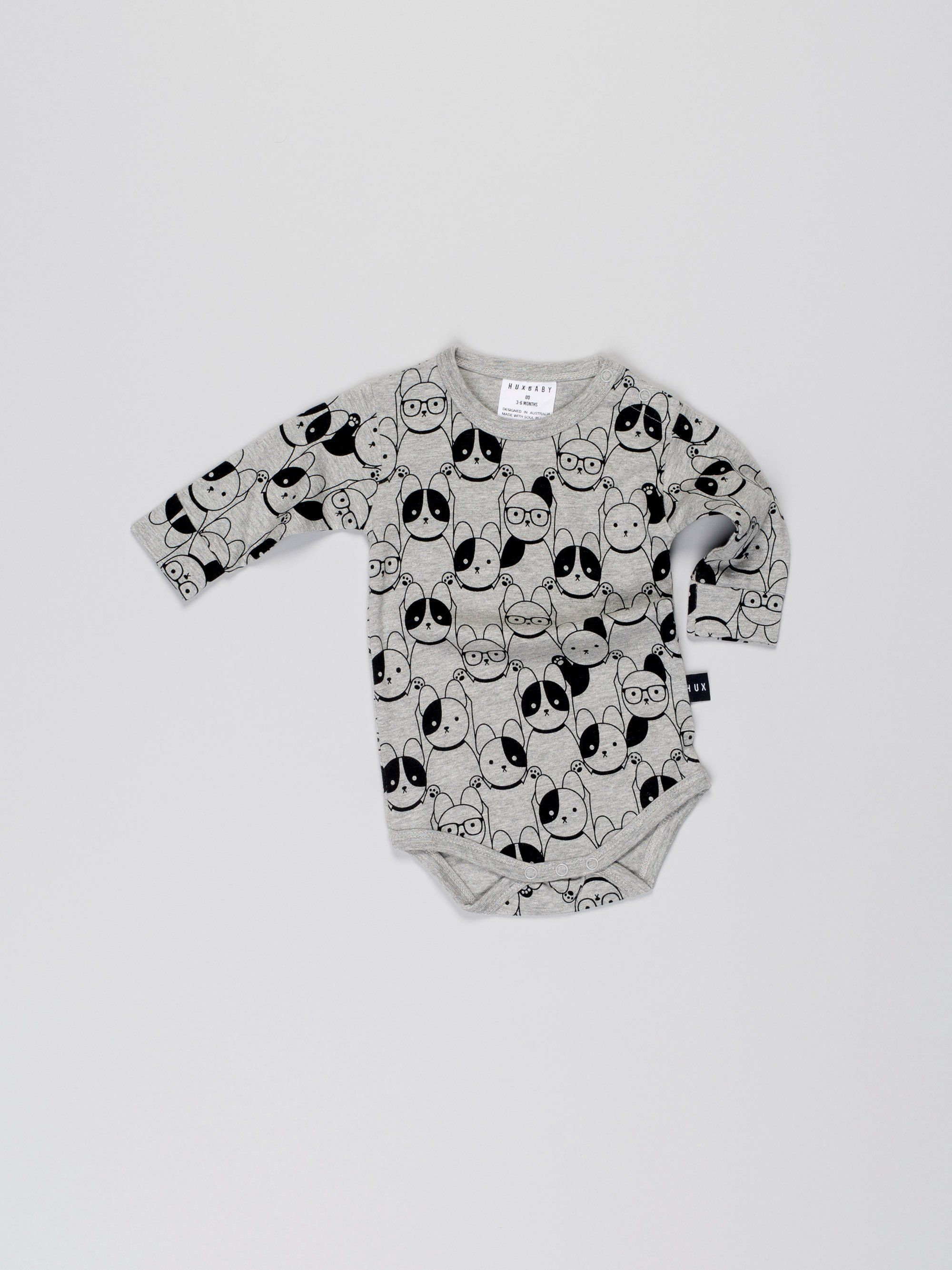 German Shepherd Dog Heart Printed Newborn Toddler Baby Long-Sleeved Bodysuit Outfits Clothes