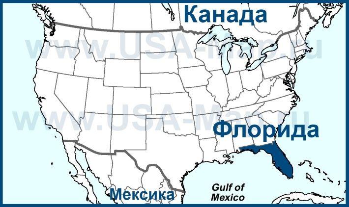 Florida Na Karte Ssha Karta Ssha Novyj Orlean Yuzhnaya Dakota