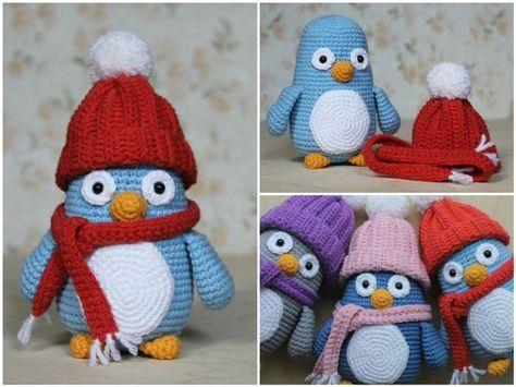 FREE CROCHET pattern - Baby penguin amigurumi with hat & scarf ...