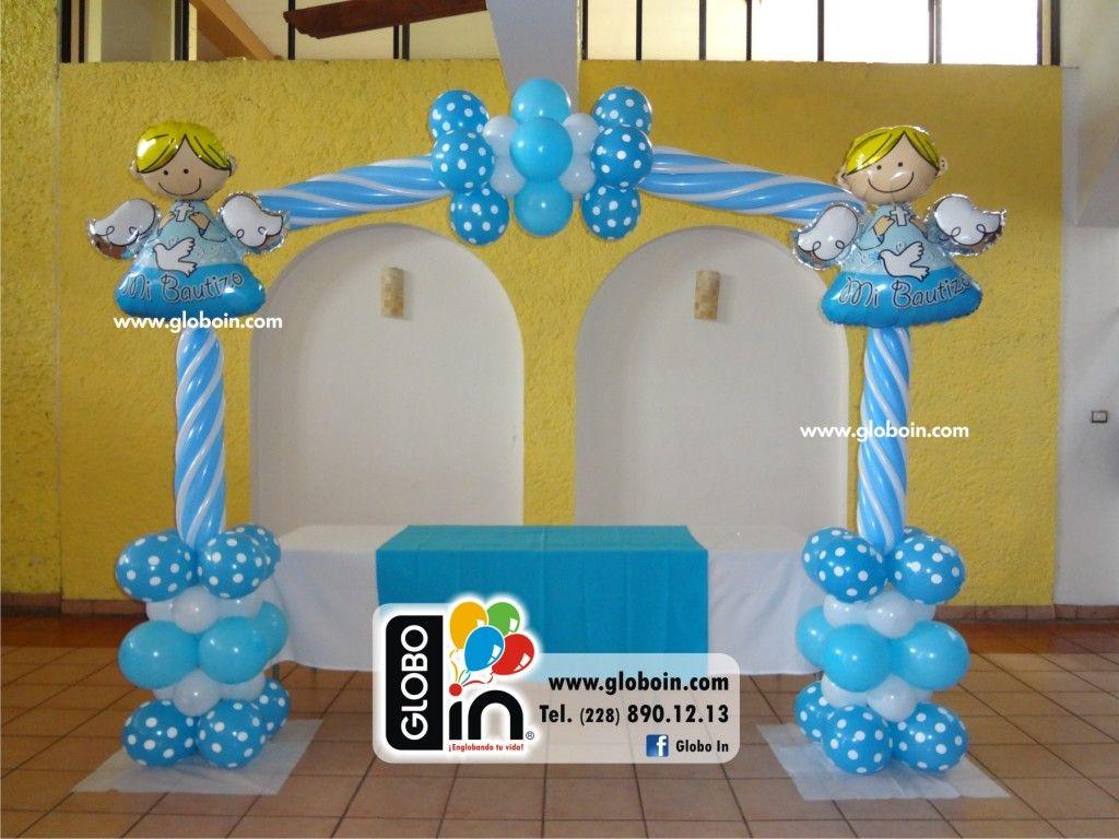 Arco de bautizo arco de globos pinterest - Decorar con globos ...