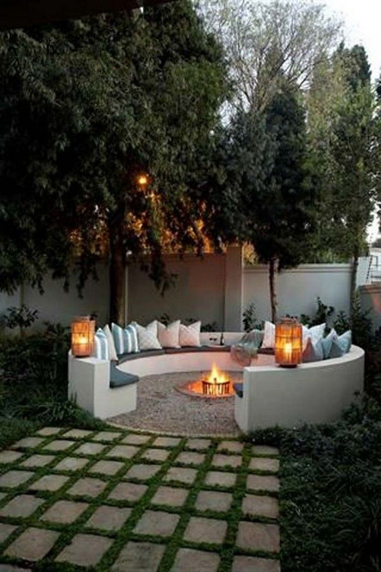 40 simple build firepit area for summer nights relaxing rh pinterest com